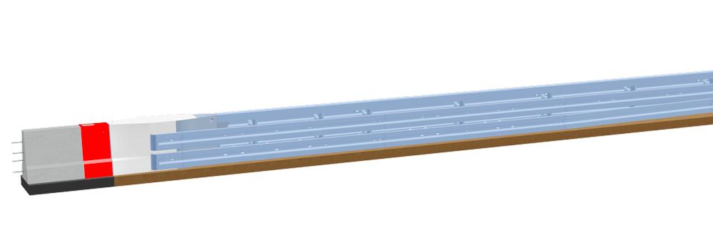 LT 1-6-S<br>Systemübergang Ortbetonschutzwand – Stahlschutzplanke Super-Rail Eco