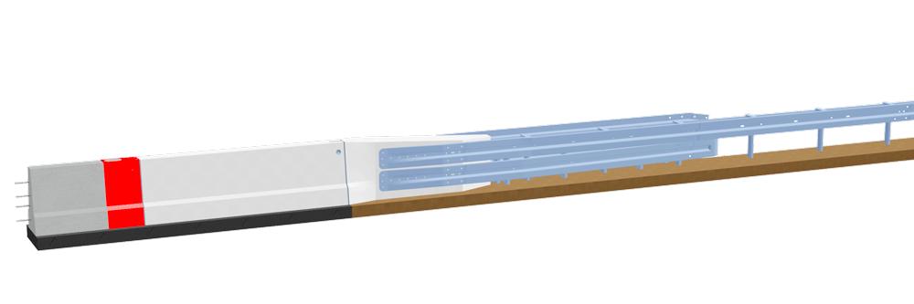 LT 1-7-S<br>Systemübergang Ortbetonschutzwand – Stahlschutzplanke EDSP