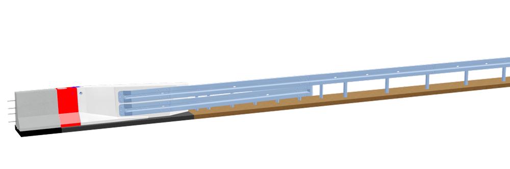 LT 1-8-Eco-Safe<br />Systemübergang BSWO – Stahlschutzplanke Eco-Safe