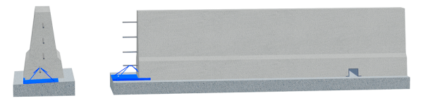 LT 101 ME • Bauwerk • H2 • W2 • ASI C • VI 2 Fahrzeug-Rückhaltesystem als Betonschutzwand in Ortbetonbauweise