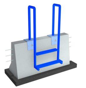 LT 904 Übersteighilfe für Ortbetonschutzwand mit zwei Stufen.