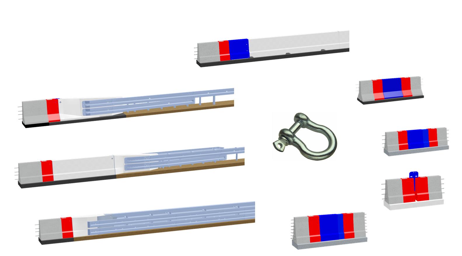 LT 1 Universalanschlusselement Betonschutzwand