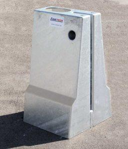 Produktbild LT 1 Universal Anschlusselement Systemelement Ortbetonschutzwand Betonfertigteilwand Linetech Fahrzeugrueckhaltesystem Betonschutzwand