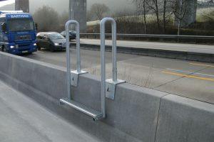 Produktbild LT 904 Uebersteigleiter Zubehoer Ortbetonschutzwand Betonfertigteilwand Linetech Fahrzeugrueckhaltesystem Betonschutzwand