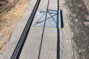 Produktbild Schubplatte Zubehoer Ortbetonschutzwand Betonfertigteilwand Linetech Fahrzeugrueckhaltesystem Betonschutzwand