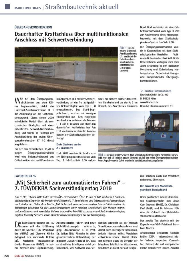 Straße und Autobahn Schwertverbindung und LT-1-8-Eco-Safe