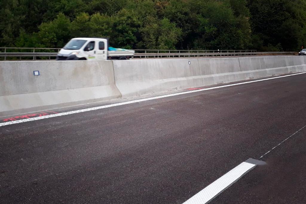 Übergangselement Linetech Ortbeton Schutzwand Betonschutzwand
