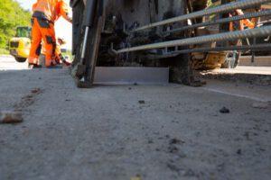 LT 103 Linetech Fahrzeugrückhaltesystem aus Ortbeton