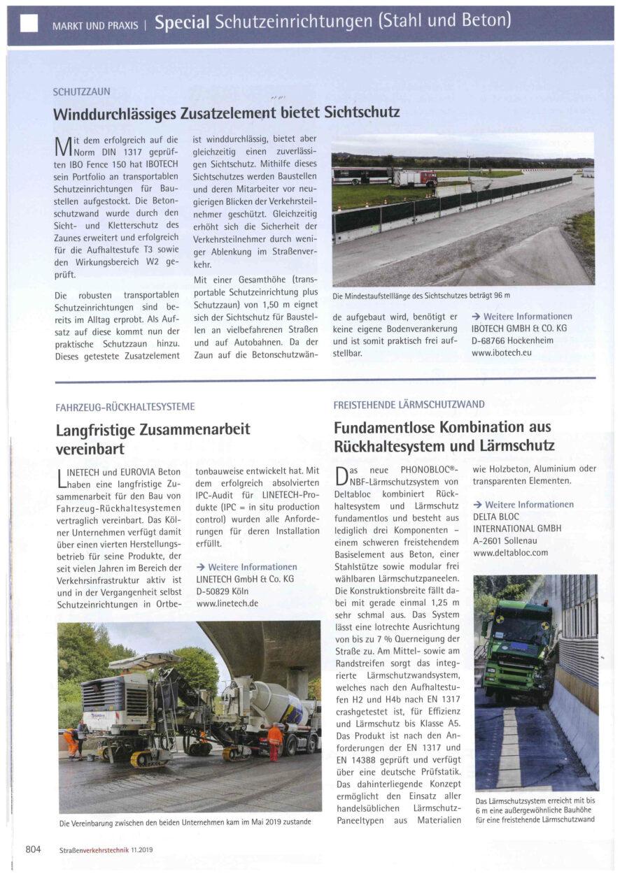 Redaktioneller Beitrag Linetech für Straßen-Verkehrstechnik