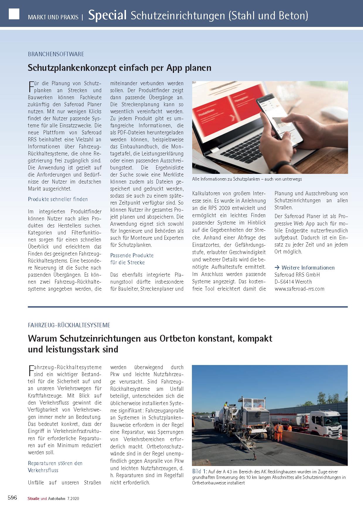 Redaktioneller Beitrag von Linetech für Straße und Autobahn